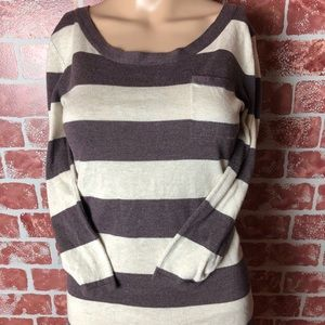 Anthropologie Kaisely Striped Sweater